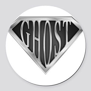 spr_ghost_chrm Round Car Magnet
