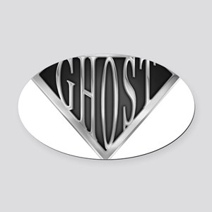 spr_ghost_chrm Oval Car Magnet