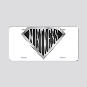 spr_mistress_chrm Aluminum License Plate