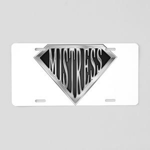 spr_mistress_chrm Aluminum License Plate