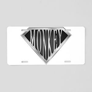 spr_monkey_chrm Aluminum License Plate