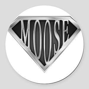 spr_moose_chrm Round Car Magnet