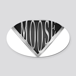 spr_moose_chrm Oval Car Magnet