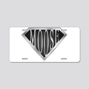 spr_moose_chrm Aluminum License Plate