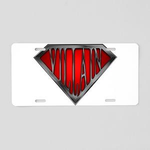 spr_villain_blk Aluminum License Plate