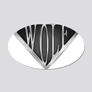 spr_wolf_chrm 20x12 Oval Wall Decal