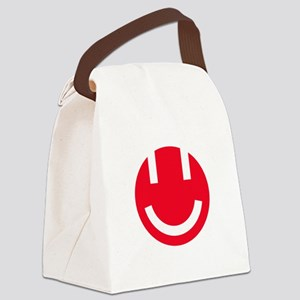 red smile face clear Canvas Lunch Bag
