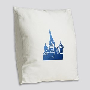 Russian church symbol art Burlap Throw Pillow