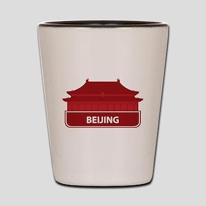 National landmark Beijing silhouette Shot Glass