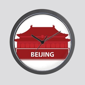 National landmark Beijing silhouette Wall Clock
