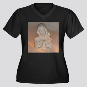 Mother Mary Women's Plus Size V-Neck Dark T-Shirt