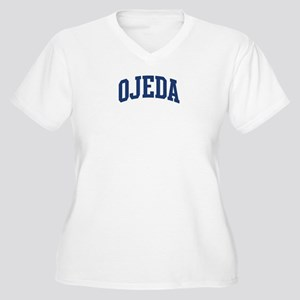 OJEDA design (blue) Women's Plus Size V-Neck T-Shi