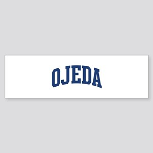 OJEDA design (blue) Bumper Sticker