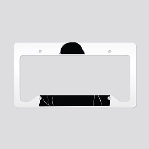 Call center operator with hea License Plate Holder