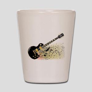 Shattering Blues Guitar Shot Glass