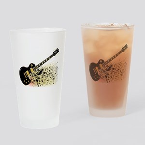 Shattering Blues Guitar Drinking Glass