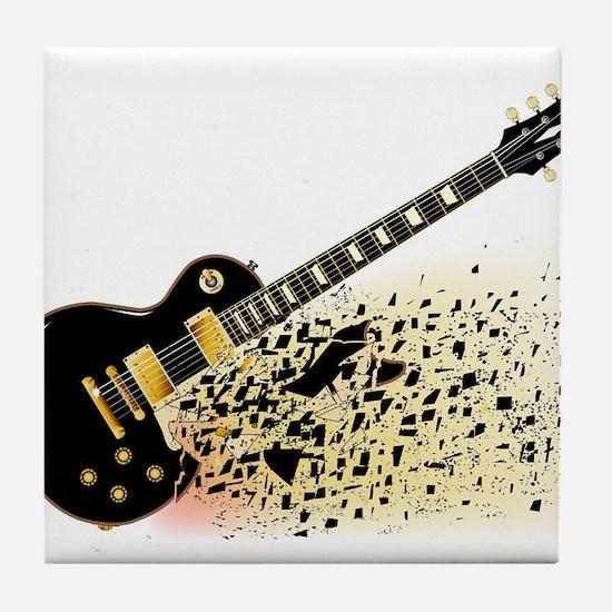 Shattering Blues Guitar Tile Coaster