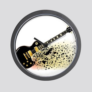 Shattering Blues Guitar Wall Clock