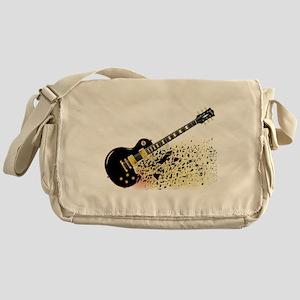 Shattering Blues Guitar Messenger Bag