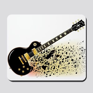 Shattering Blues Guitar Mousepad