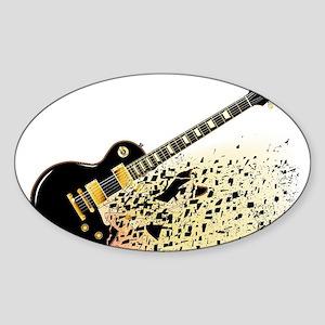 Shattering Blues Guitar Sticker