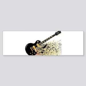 Shattering Blues Guitar Bumper Sticker
