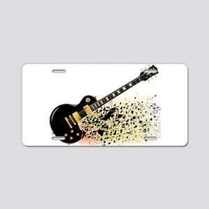 Shattering Blues Guitar Aluminum License Plate