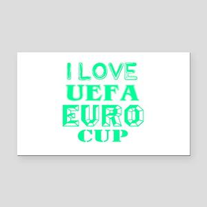 I Love Uefa Euro Cup Rectangle Car Magnet