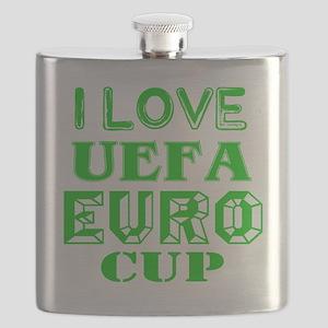 I Love Uefa Euro Cup Flask