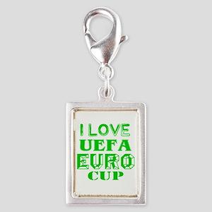 I Love Uefa Euro Cup Silver Portrait Charm