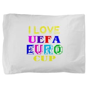 I Love Uefa Euro Cup Pillow Sham