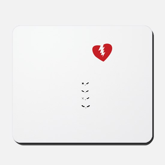 Rib cage with heart design Mousepad