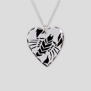 Scorpion Tattoo design art Necklace Heart Charm