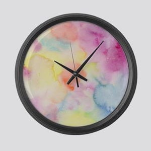 Watercolor Abstact Pattern Colorf Large Wall Clock