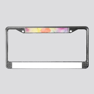 Watercolor Abstact Pattern Col License Plate Frame