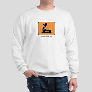 Inline Skating  (orange) Sweatshirt