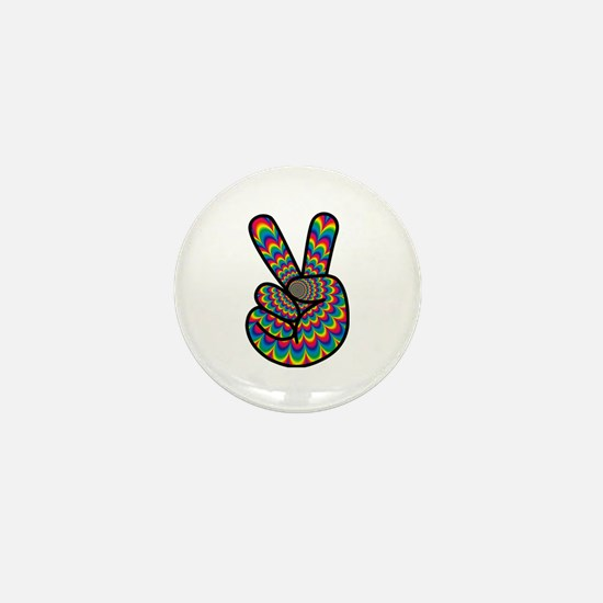 Unique Hand of peace Mini Button