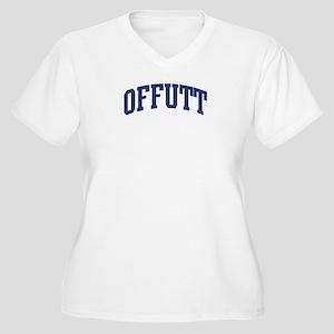 OFFUTT design (blue) Women's Plus Size V-Neck T-Sh