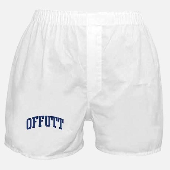 OFFUTT design (blue) Boxer Shorts
