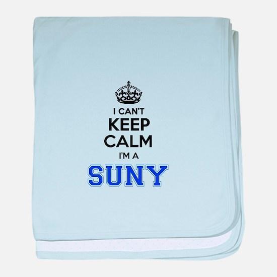 I can't keep calm Im SUNY baby blanket