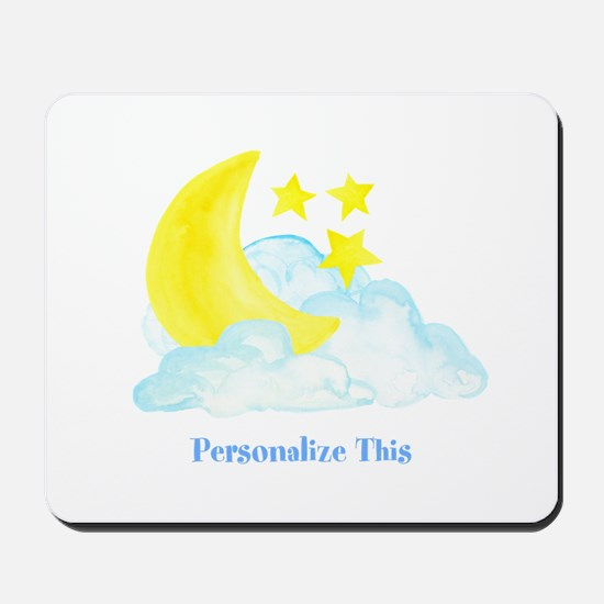 Personalized Moon and Stars Mousepad