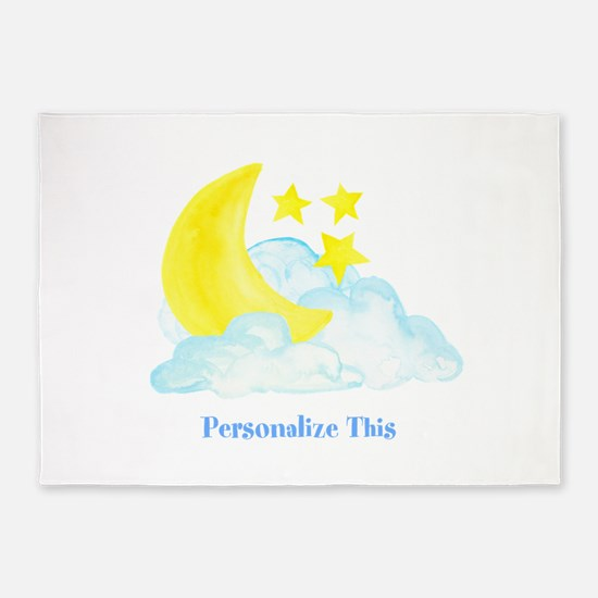 Personalized Moon and Stars 5'x7'Area Rug