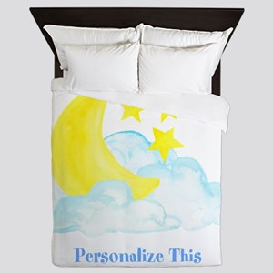 Personalized Moon and Stars Queen Duvet