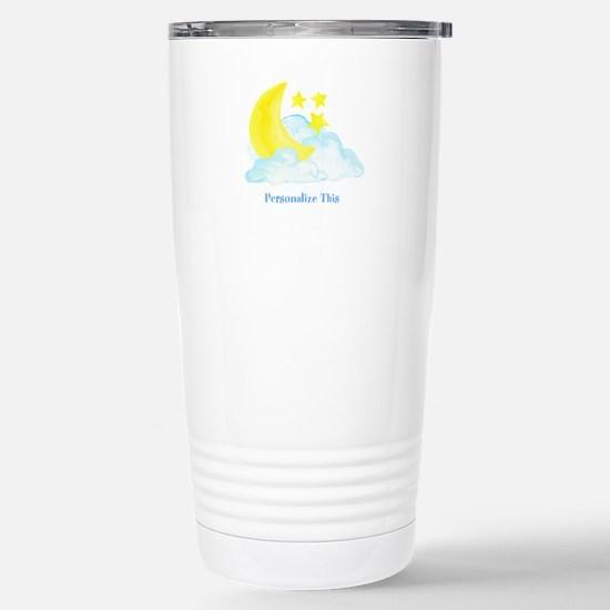 Personalized Moon and Stars Travel Mug