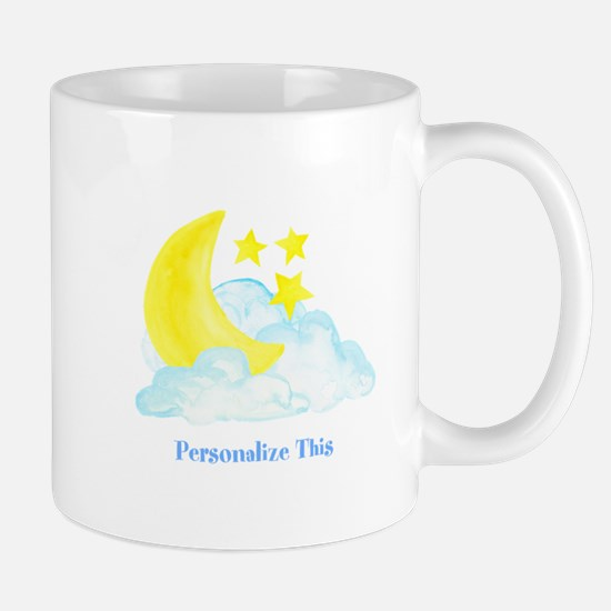 Personalized Moon and Stars Mugs
