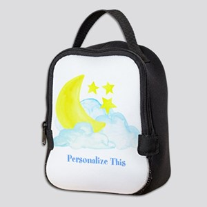 Personalized Moon and Stars Neoprene Lunch Bag