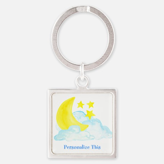 Personalized Moon and Stars Keychains