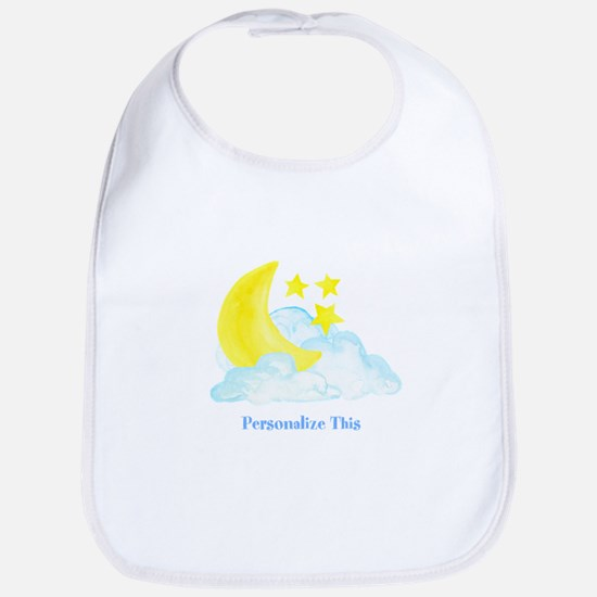 Personalized Moon and Stars Baby Bib