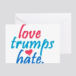 love trumps hate Greeting Cards