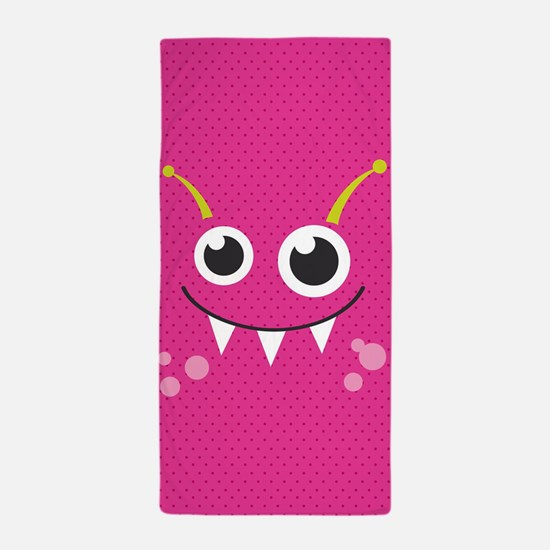 Cute Monster Beach Towel